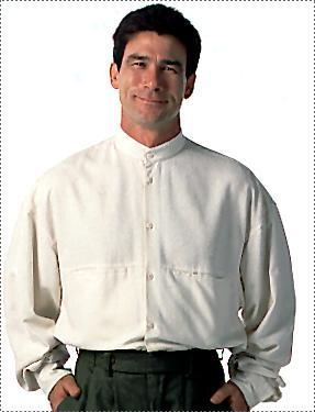 Collarless button up shirt mens custom shirt for Men s collarless banded collar dress shirt